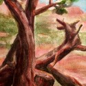 Sprout, Gnarled Junipers, Sedona. Watercolor